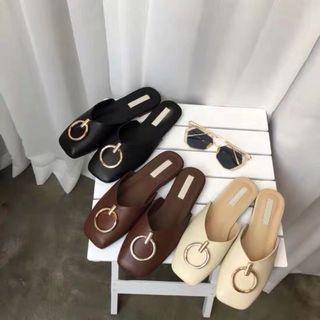 Korean Welly O-Ring Flat Sandals