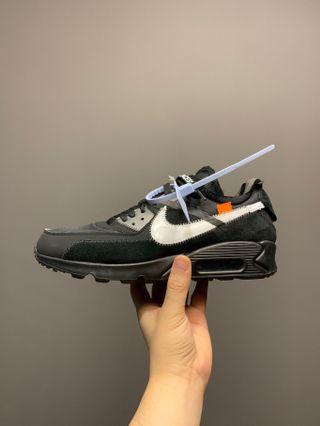 🚚 Nike Off White Air Max 90 Black