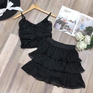 Sexy tops with Skirts size s m 3 color