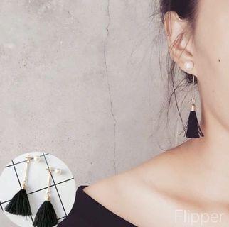 BN Black Tassel Earring