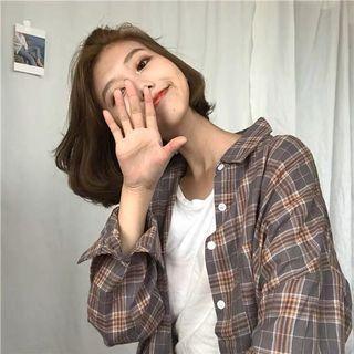 Korean Grid Checkered Jacket