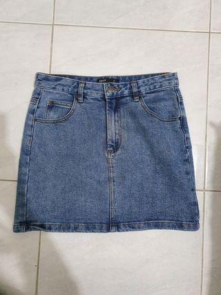 GLASSONS blue denim skirt - size 8