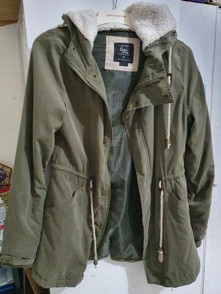 COTTON ON khaki green parka jacket - size xs