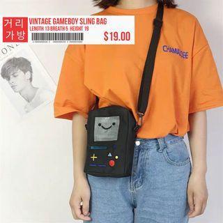 Black Vintage Gameboy Sling Bag