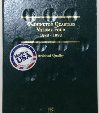 Whitman coin folder for washington quarters 1988-1998 COD available