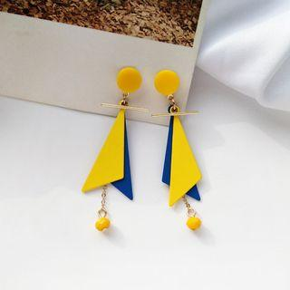 Eliette Geometric Earrings in Yellow/Blue