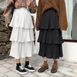 Korean Anna Ruffle Skirt