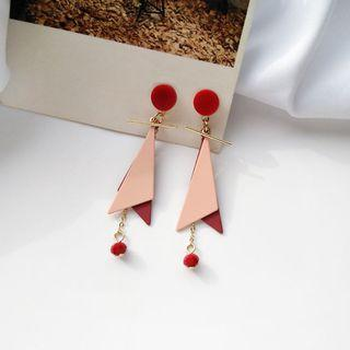 Eliette Geometric Earrings in Red/Pink