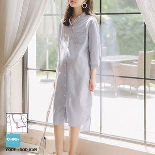 b4364d34caf0c Maternity Nursing Shirt Dress DOD-0169
