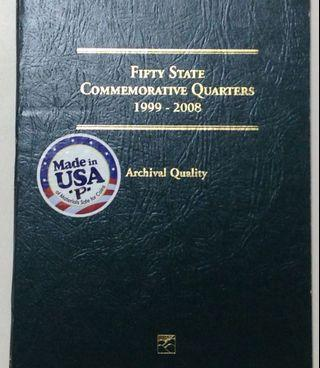 Whitman coin folder album for state quarters with coins included