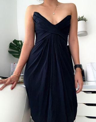 Zimmermann navy 100% pure silk dress size 2