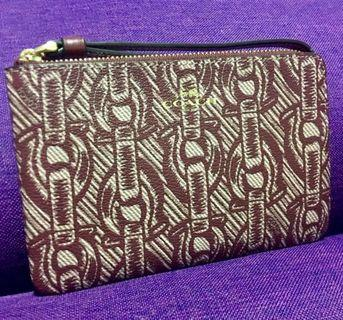 AUTHENTIC NEW COACH CORNER ZIP WRISTLET WITH CHAIN PRINT (COACH F40113)