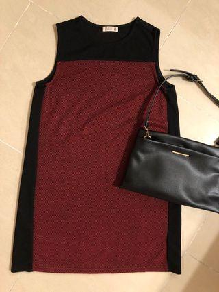 P & Co red dress