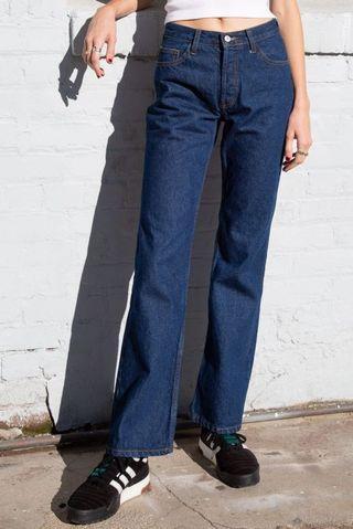 brandy melville wide-leg jeans