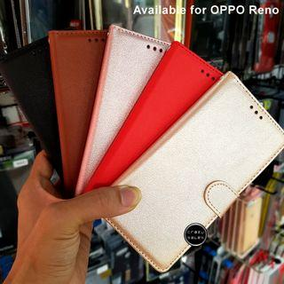 OPPO Reno Leather Diary Pouch Flip Wallet Case Cover