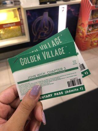 🚚 John Wick 3 Movie Tickets