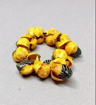 #prelovedwithlove Shell Bracelet/Hair tie
