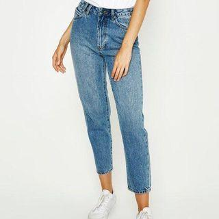 INSIGHT TAPERED MOM JEANS general pants BLUE NAVY NEW DENIM