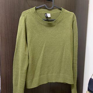 H&M墨綠針織