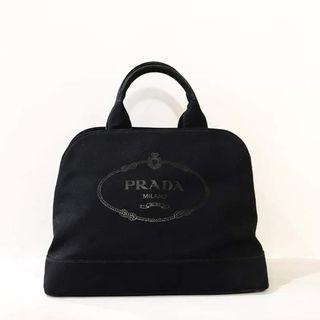 2nd prada canvas black (db)