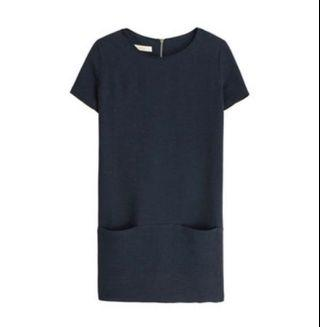 Sessun short sleeve dress Navy