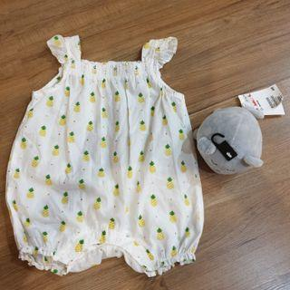 H&m pineapple jumpsuit and rattle