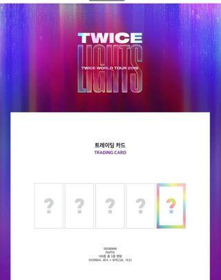 Twicelights trading cards set preoreder