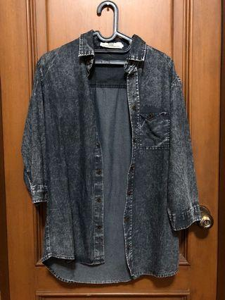 denim washed shirt