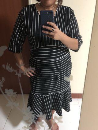 Brand new plus size midi mermaid dress