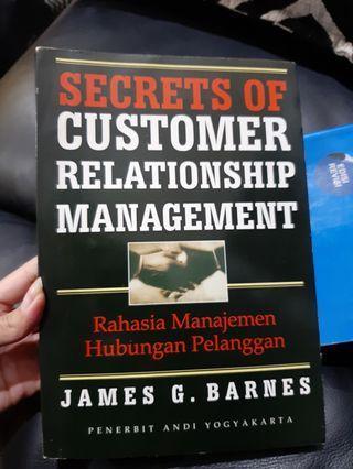 Buku secret of customer relation management