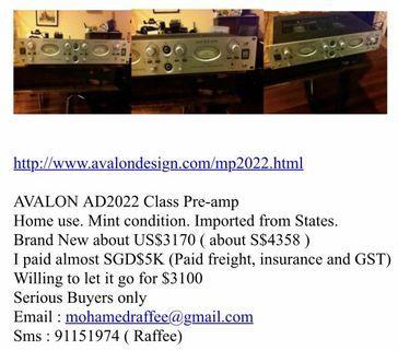 🚚 AVALON AD2022 PRE AMP