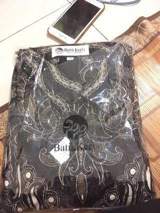 Kemeja batik formal motif parang kembang peisley