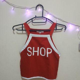 Crop Top merah Colorbox