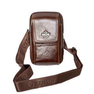 ZZNICK 正品牛皮時尚男包 腰包斜背包可腰掛輕巧真皮327116全新牛皮包 國外熱賣