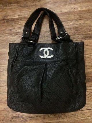 chanel black quilted leather le marais large bag #11 (reprice ONLY TODAY)