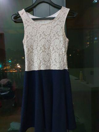 White & Blue Dress