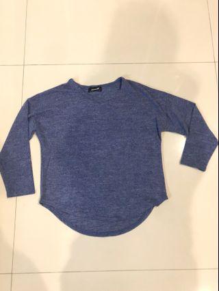 Baju panjang biru