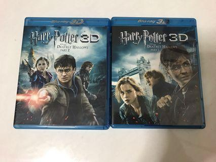 Harry Potter Blue Ray 3D & Blue Ray