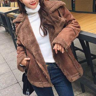 Brand new brown teddy jacket