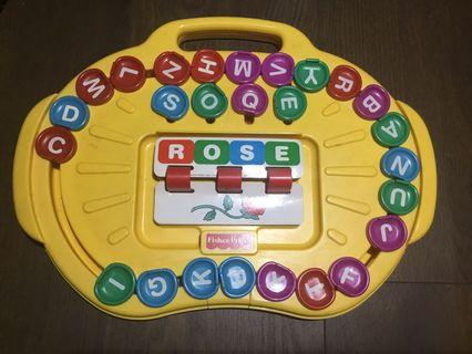 Fisher-Price spelling toy