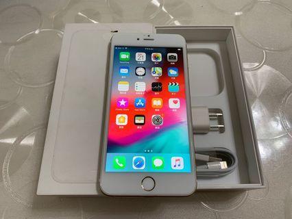 🚚 IPhone 6 Plus 金 64g 5.5吋(IOS:12.2) 原盒配件無耳機、 外觀八成新、邊框右上有小擦傷、屏幕右上有個淺色亮點、 正面看不太出來、已反映在價格上、無重摔無泡水。 所有功能正常順暢。已貼滿版保護貼。 電池健康度🔋98%
