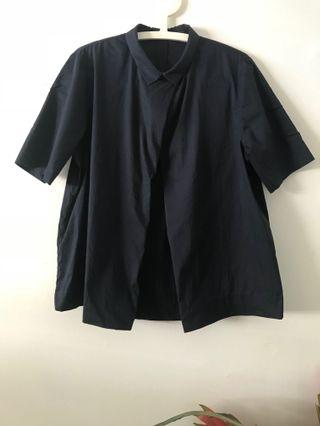 COS Navy Blue Blouse