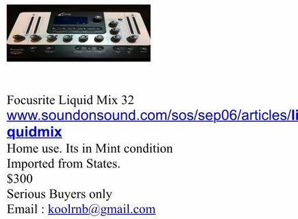 FOCUSRITE LIQUID MIX 32 comp/ eq processor