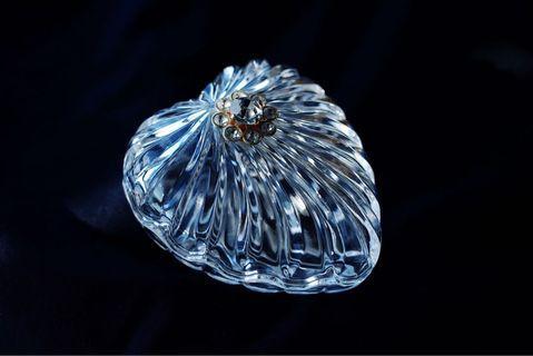 日本帶回vintage 中古水晶玻璃首飾盒