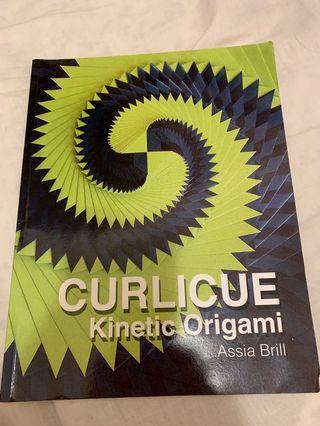 Curlicue origami book