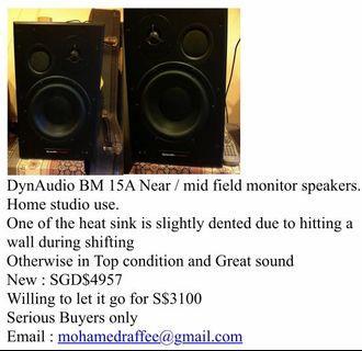 Speakers DYNAUDIO BM15A MONITOR SPEAKERS