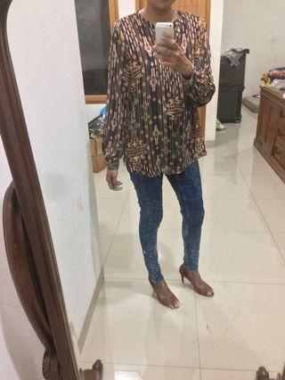H&M tribal loose blouse