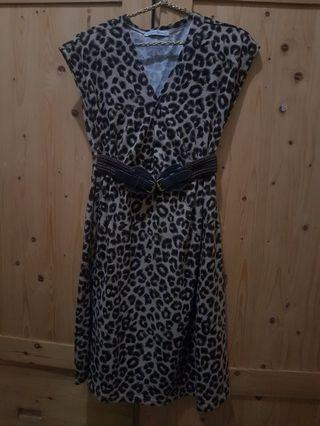 Mididress leopard