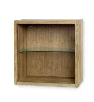 🚚 NARVIK glass-door wall cabinet