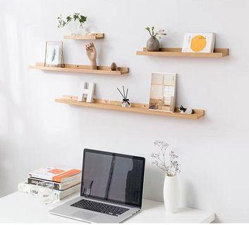 🚚 NARVIK wall shelf sets (2pcs of 30cm, 2pcs of 60cm)
